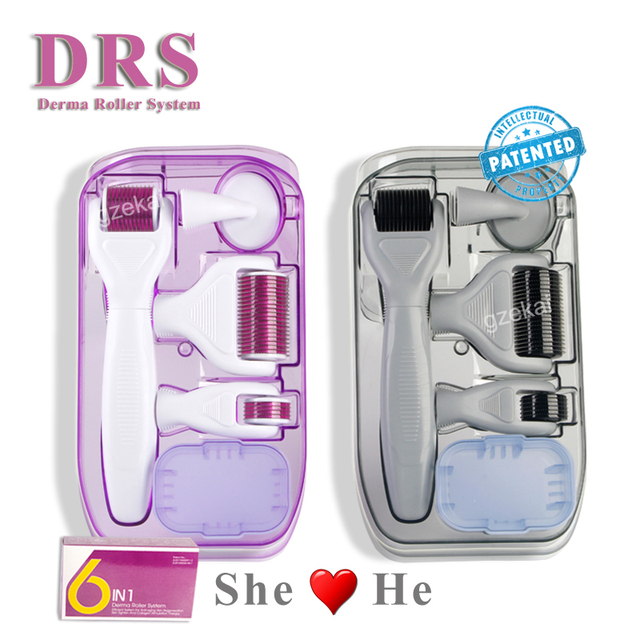 Original DRS 6 in 1 Derma Roller Microneedle Kits for Multiple skin care treatment CE certificate Proved 1