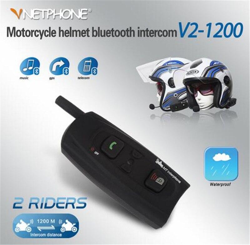 VNETPHONE Helmet Headset Bluetooth Intercom For Motorcycle Wireless Bluetooth Interphone BT Intercom Headset 1200M