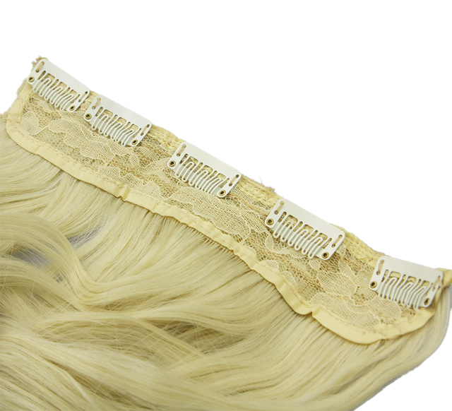 24″ Wide Wavy Clip-in Synthetic Hair Extension