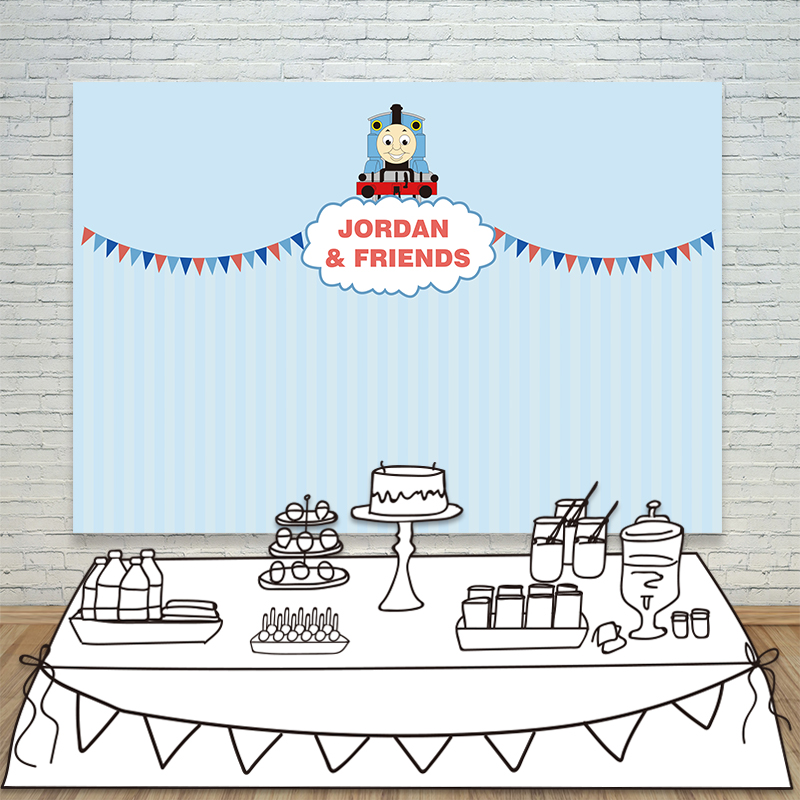 Allenjoy vinyl backdrops for photography blue cartoon cute Thomas train birthday background props newborn fabric space 10ft*20ft samsung galaxy core prime ve duos sm g361h grey