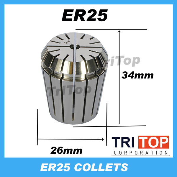 High Precision ER25  Accuracy 0.005mm  Spring Collet  For CNC Milling Lathe Tool Engraving Machine Free Shipping