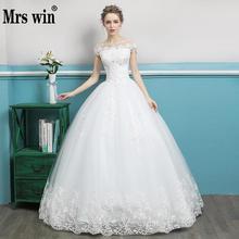 Vestido De Noiva 2018 The Bridal Short Sleeve O neck Luxuey Embroidery Crystal Ball Gown Wedding