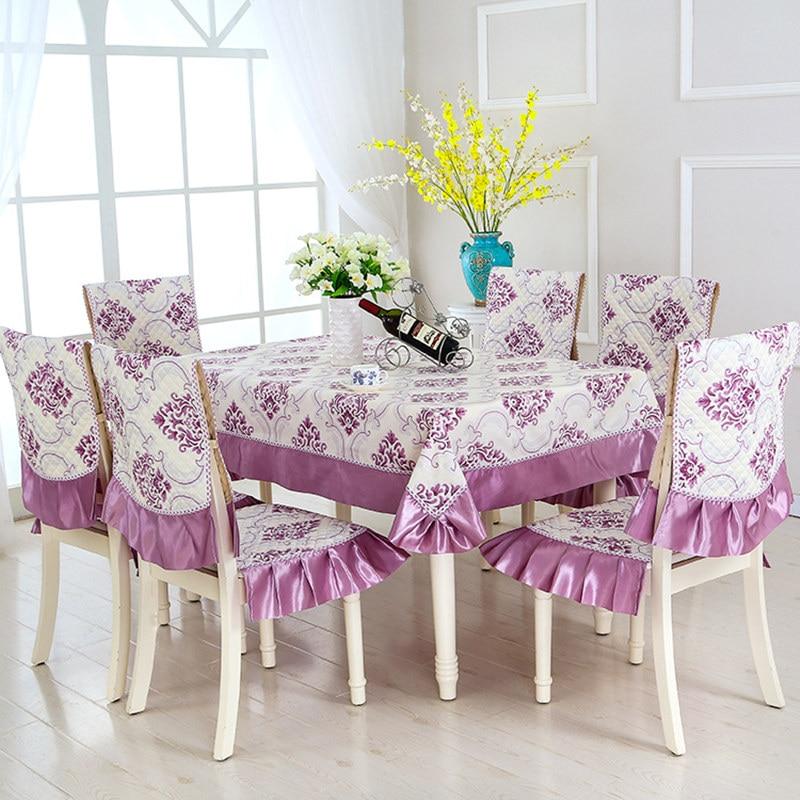 Европейский стиль, 5 цветов, настольный цветок из текстиля, Rrinted 9 шт./компл., скатерти, уличные скатерти, вечерние, свадебные скатерти - 5