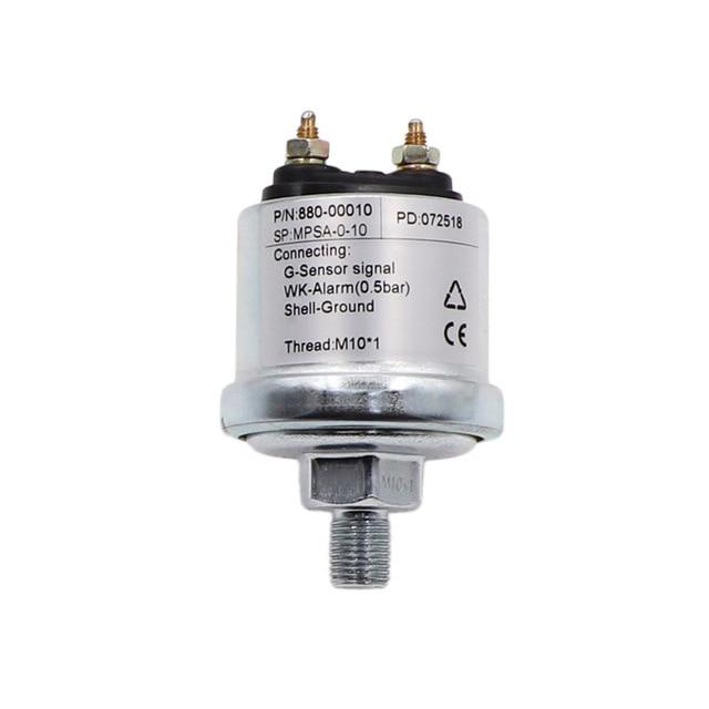 New Mechanical Oil Pressure Sensor M10*1 NPT-1/8 for Oil Pressure Gauge Measuring Range 5 Bar /10 Bar Pressure Sensor