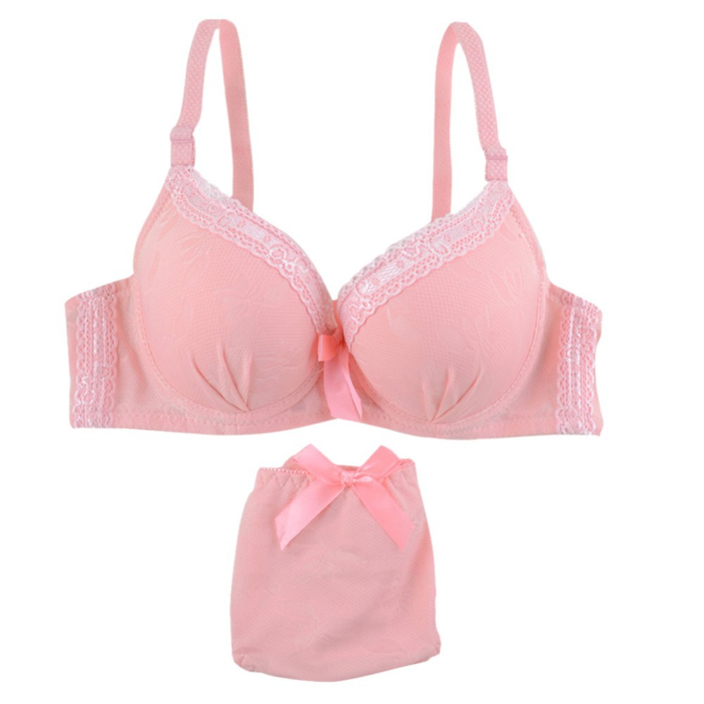 27af6f06a8 Best Sales Women Casual Underwire Lace Push up 3 4 Cup Brassiere Lingerie +  Briefs