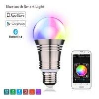Smart Bluetooth LED Bulb SU 650 E27 RGBW Remote Control Color Changing Light Romantic Bulb For
