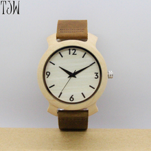 TJW Men's bamboo watches Men's belt watch