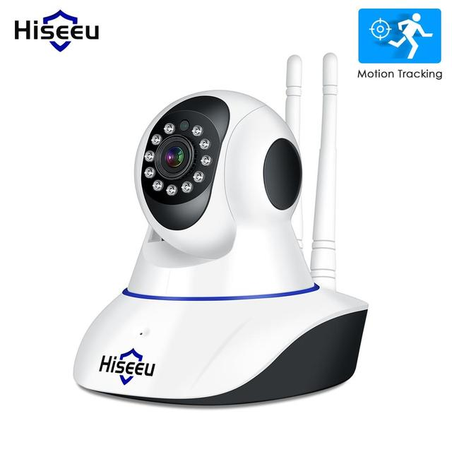 Cámara IP Hiseeu 1080 P cámara de seguridad inalámbrica para el hogar cámara de vigilancia Wifi visión nocturna cámara CCTV Monitor de bebé pista inteligente