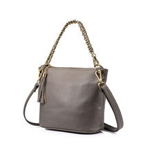 REALER fashion female Genuine Leather shoulder bags handbags women famous brands messenger bags Black/Red/Purple/Gray(China)
