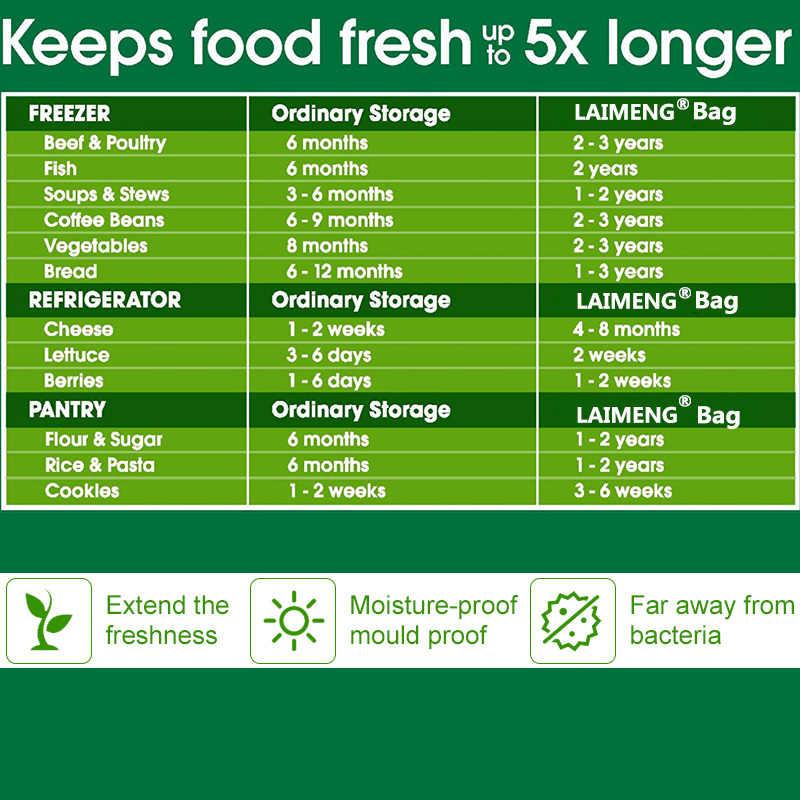 LAIMENG torebki próżniowe zgrzewarka torby do pakowania folia do pakowania próżniowego Sous Vide próżniowe bezpieczne do przechowywania żywności przechowywanie żywności P107