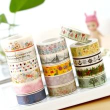 DIY Japanese Washi Tape Flower Cartoon Dots Decorative Color Tape for Photo Albums Stationery Washi