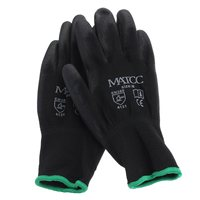 Новый 12 пар PU нитрил безопасности, рабочие перчатки сад строителей сцепление Размер M/L/XL безопасности на рабочем месте