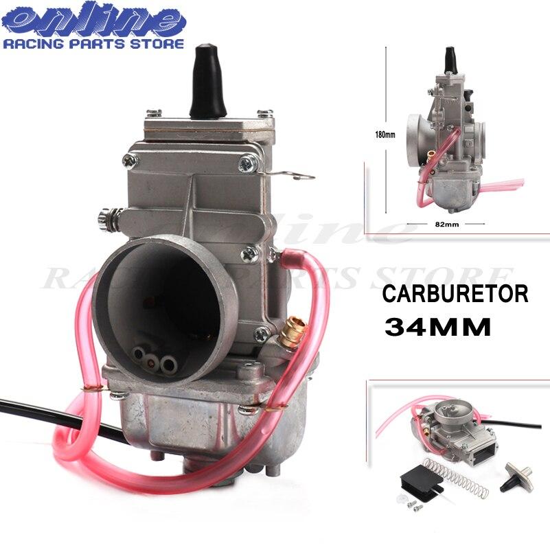 Nouveau carburateur vergaser Carb TM34 glissière plate 34mm carburateur robinet TM34-2 42-6100 TM-34 rep pour Mikuni honda 250 LT250