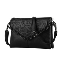 Brand casual PU small alligator Crocodile chains ladies women clutch famous designer shoulder messenger crossbody bags for lady
