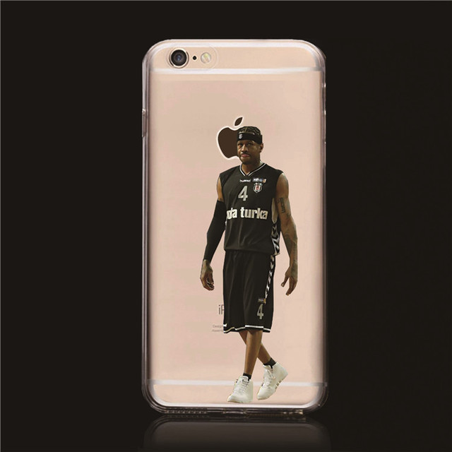 a3e013c3ca71 2015 Popular NBA Stars case for iphone 6 Transparent Hard Case Derrick Rose  Allen Iverson case cover for iphone 6 plus 5.5