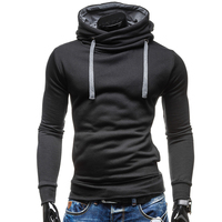 2018 New Fashion Hoodies Brand Men Solid Color Lace Sweatshirt Male Hoody Hip Hop Autumn Winter