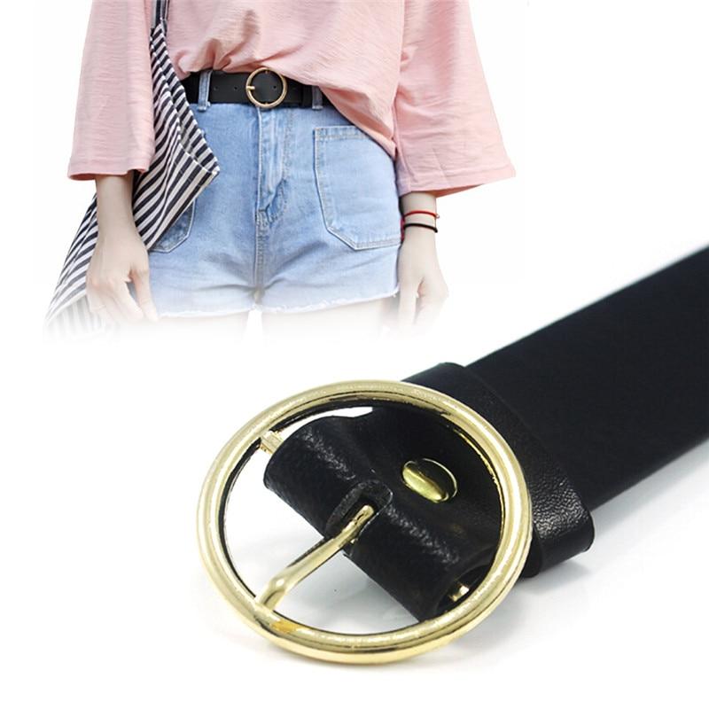 Hot Designer Brand Unisex Round Metal Circle   Belts   Punk O Ring   Belt   For Women
