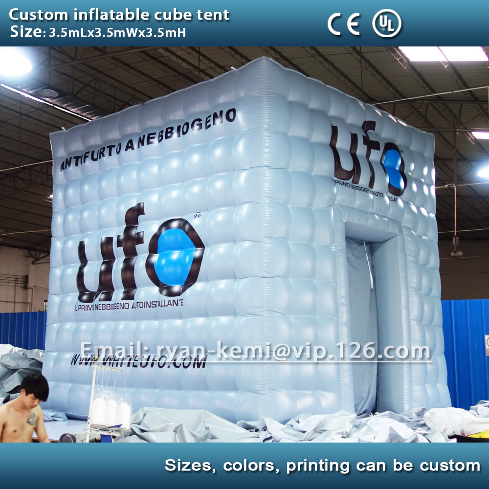 где купить free shipping 3.5m custom inflatable cube tent with custom logo inflatable advertising tent inflatable outdoor events party tent по лучшей цене