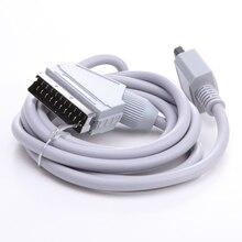 RGB Scart Cable de Vídeo de ALTA DEFINICIÓN HDTV AV Cable 1.5 m Cable de PVC chaqueta 720 p/1080i de Reemplazo para Nintendo Wii Consola de Videojuegos