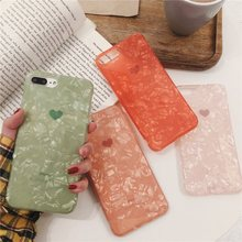 Glitter Dream Shell Phone Case For iPhone 7 Plus Love Heart Silicon Cover XR XS Max X 8 6 S Soft TPU