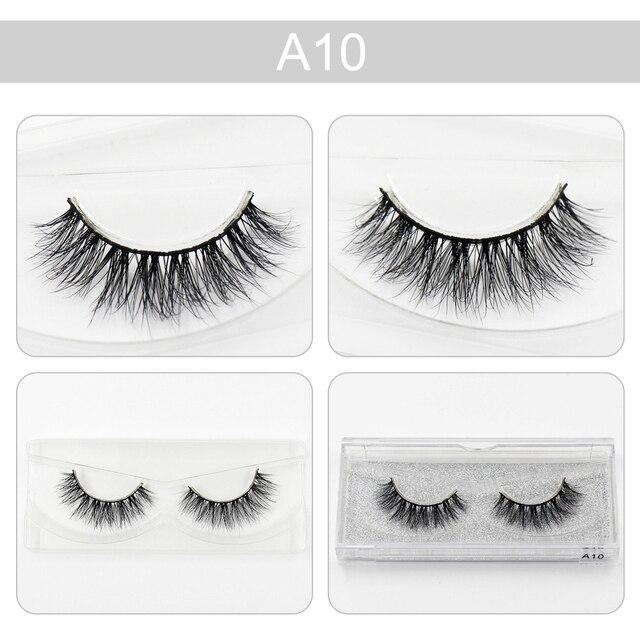 af682ca06f5 AMAOLASH Mink False Eyelashes Glamorous Lashes Strip Mink Lashes  volume-depth Hand Made false lashes natural long Lashes A10