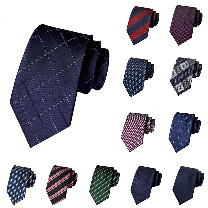 2019 New Ties For Men 8cm Luxury Silk Jacquard Weave Necktie Formal Dress Striped Work Wedding Party Tie Gravata Accessories