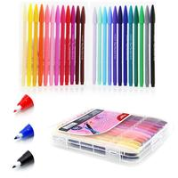 Korean DIY Drawing Colorful Gel Pen 0 4mm Gel Ink Pen Graffiti Hook Line Fiber Pen