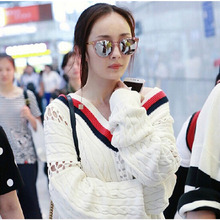 2019 New fashion box sunglasses, Korean version fashionable dazzling net red