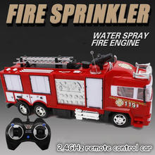 4ch 2.4G remote control car RC Fire truck toys with Music and light Children's RC truck toys gifts RC Engineering car toys rc truck 2 4g radio control construction rc cement mixer fire truck rc garbage truck rc crane truck for kids gift toys
