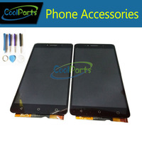 High Quality Black Color For Alcatel OT8050 8050D 8050 LCD Display With Touch Screen Digitizer Assemblely