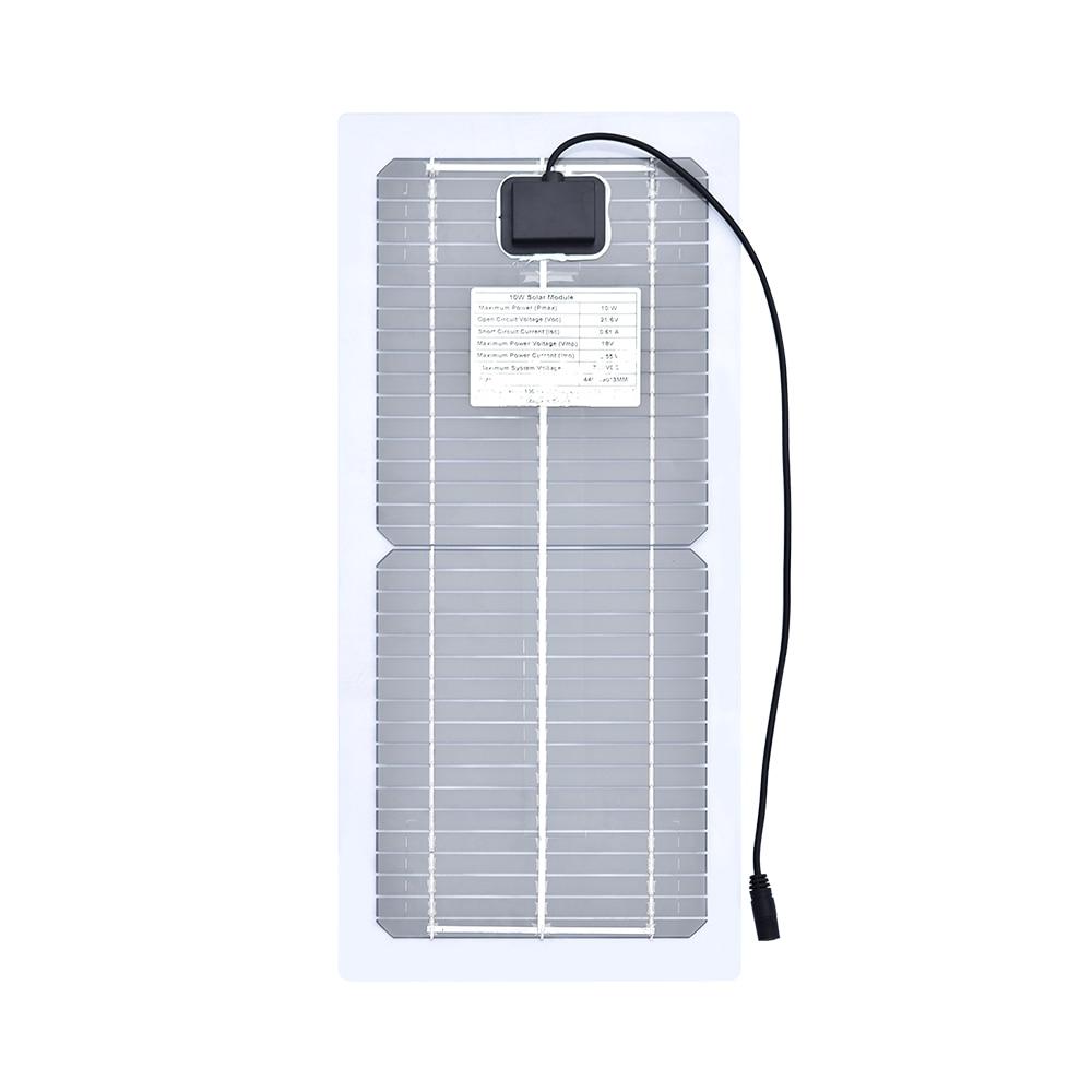 Xinpuguang 柔軟なソーラーパネル 18 V 10 ワット単結晶ポータブル PowerBank usb 屋外携帯電話 RV 車ボートのバッテリー充電器  グループ上の 家電製品 からの 太陽電池 の中 3