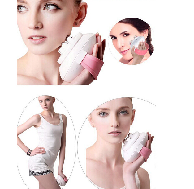 mini portable Body Relax slimming Massage 6 rollers Cellulite Control electric Roller facial sculpting Massager Body Slimmer
