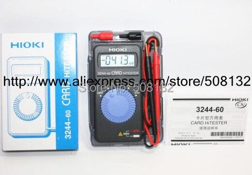 Hioki 3244 60 Card HiTester Digital Multimeter auto ranging power saving NEW