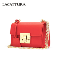 LACATTURA Luxury Clutch Women Messenger Bags Chain Leather Handbag Lady Flap Shoulder Bag Crossbody for Girls Small Summer Bag