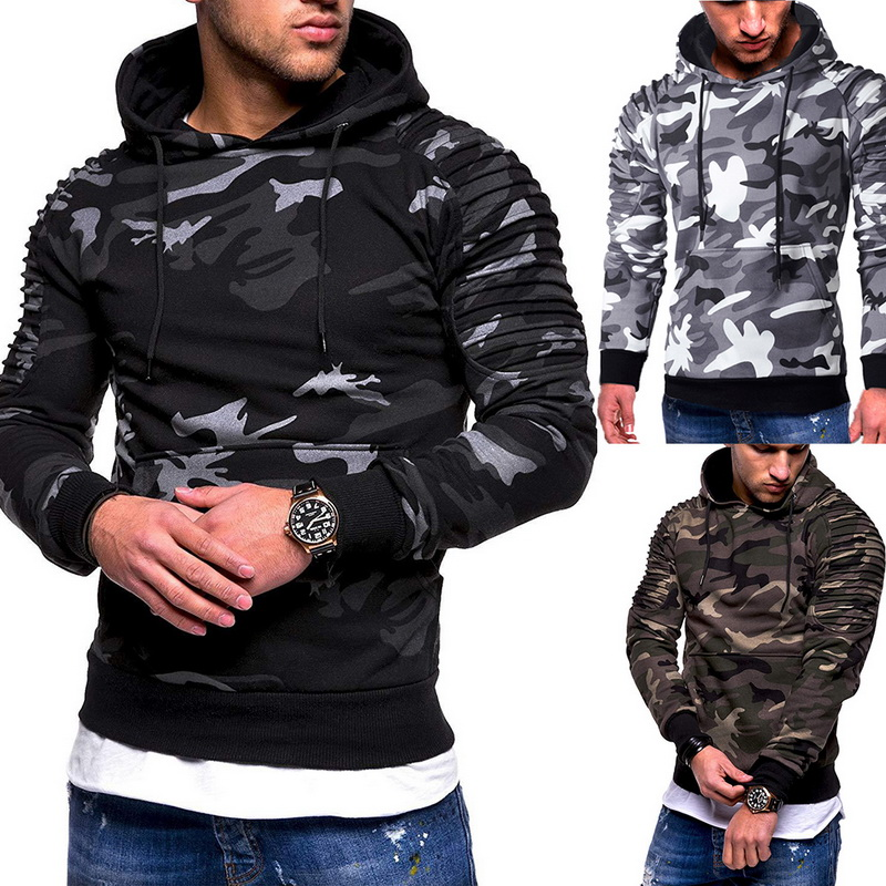 Laamei Camouflage Hoodies Men 2019 New Fashion Sweatshirt Male Camo Hoody Hip  Autumn Winter Military Hoodie Plus Size 3XL 5