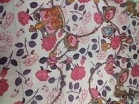 1Meter Lot 140CM Width Silk Fabric Dandelion Printed Silk Chiffon Fabric Nature Silk Print Fabric Textile