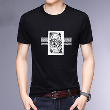 HAYBLST Brand Homme T Shirts Summer 2019 Fashion Casual Cotton Playing CARDS Print Tops & Tees Breathable Plus Size 5XL Clothing