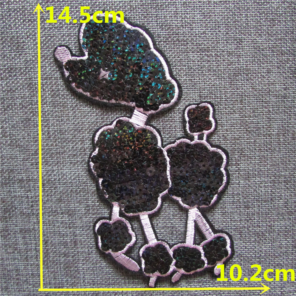 New Arrival cartoon dog embroidery patches hot melt adhesive applique DIY clothing accessory patch 1pcs for sale C2274