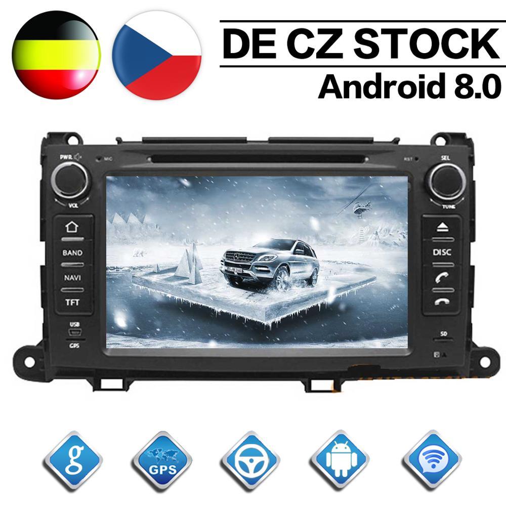 オクタコア 2 ディンアンドロイド 8.0 カーラジオトヨタシエナ用 2010 2011 2012 2013 2014 GPS ナビゲーション CD DVD プレーヤー FM Bluetooth ユニット  グループ上の 自動車 &バイク からの 車用マルチメディアプレーヤー の中 1