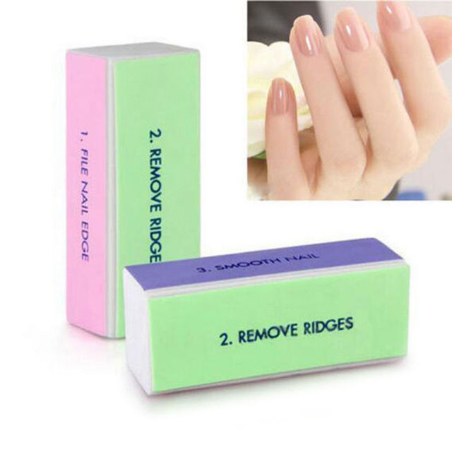 Useful Manicure Block 4 Face Sanding File Nail Art Shiner Buffer Buffing Tool