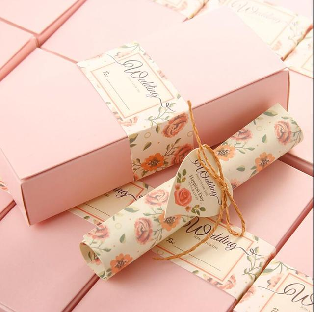 Vintage Box Scroll Wedding Invitations Card Personalized Birthday Part Gift Bt103 Free Shipping
