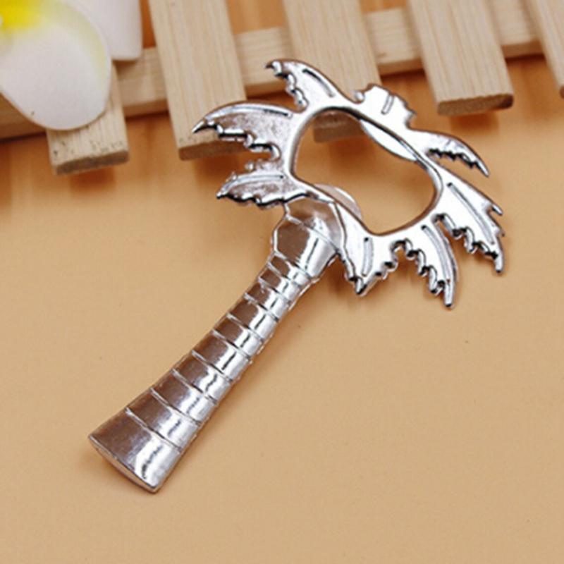Bottle Cap Opener Silver Color Palm Tree Wine Barware Tool Wedding Party Favor Gift