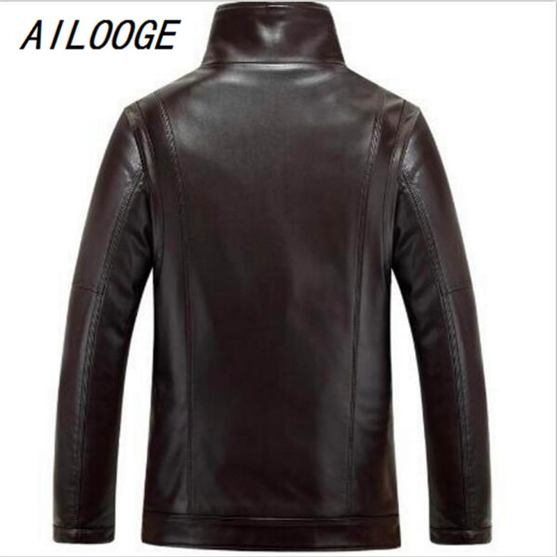 AILOOGE HOT 2017 Fashion New Winter Men New Leather jacket Business casual Velvet bigger sizes coat AILOOGE HOT 2017 Fashion New Winter Men New Leather jacket Business casual Velvet bigger sizes coat
