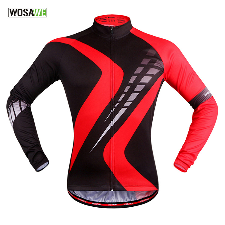 2017 new autumn cycling clothing outdoor riding breathable perspiration red long sleeved Jersey women biking clothes bikini