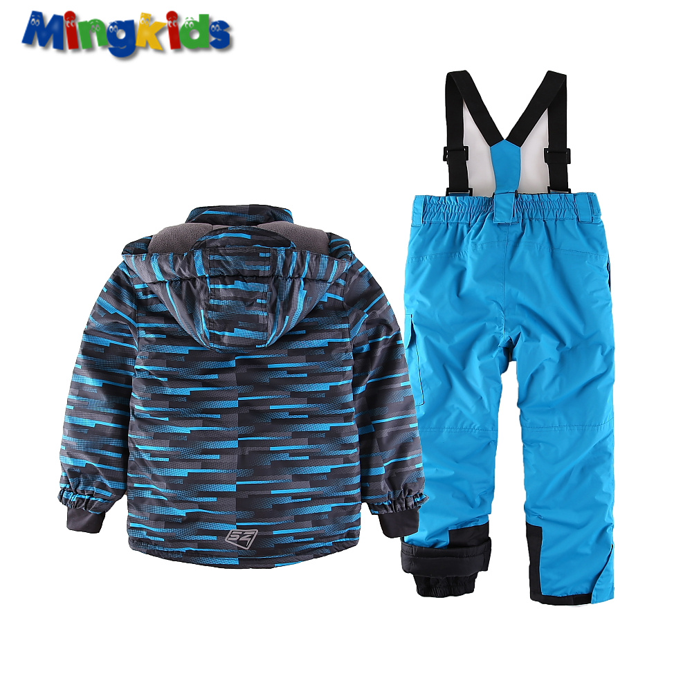 77e3c1d20 Купить Мальчики ' одежда | Mingkids toddler Boy Snowsuit Outdoor Ski set  Winter Warm Snow Suit waterproof windproof hooded jacket with pants  European Size