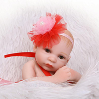 New Arrival 10 Inch Lovely Fashion Baby Doll Reborn Silicone Realistic Girl And Boy Babies Premie Doll Toy Kids Birthday Gift