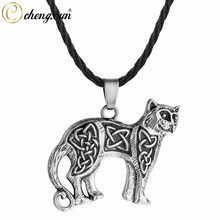 CHENGXUN Indian Jewelry Leopard Animal Pendant Original Jewelry Choker Necklace for Men Boys Viking Amulet Collier(China)