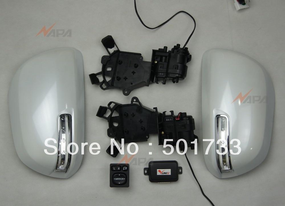 Highlander автоматическое складное зеркало с выключателем питания, складной мотор, светодиодный сигнал поворота, автоматический блок управления, роскошное обновление