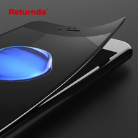 Returnda 3D Soft Curved Edge Full toughened glass for iPhone 6 7 6s plus 7 plus Screen Protector Protective Carbon Fiber Film