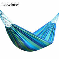 Leewince individual Hammock Portable Camping Garden Beach Travel Hammock Outdoor Ultralight Colorful Cotton Polyester Swing Bed